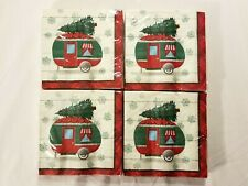 Christmas Napkins Holiday Camper Paper Disposable Drink Napkins 16 Count 4 Pack