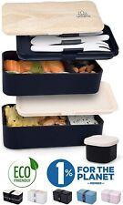 Lunch Box Boîte à Bento Japonaise Hermétique 2 Étages Repas À La Maison/Travail