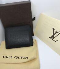 Original Louis Vuitton Slender Geldbörse Taiga Leder Schwarz