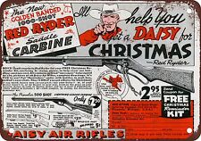 "9"" x 12"" Metal Sign - 1940 Daisy Red Rider BB Gun - Vintage Look Reproduction"