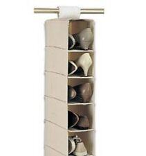 5 étagère pendaison sac à vêtements chaussures titulaire rack organisateur armoire rangement uk