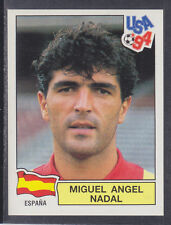 Panini-Usa 94 World Cup - # 187 Miguel Nadal-España (verde posterior)