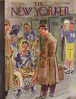 1951 New Yorker October 27 - Locker Room Football Hero