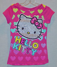 FANCY HELLO KITTY GIRLS HOT PINK TOP/ SHIRT SIZE 6 NEW WITH TAGS