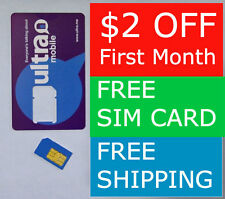 Ultra Mobile FREE SIM Card $49 Plan for $47, Unlimited Calling, T-Mobile Network