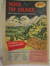 1950's 100 PC TOY SOLDIER SET IN FOOT LOCKER Store Color Sign