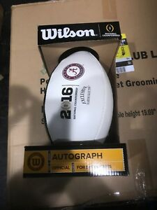 Wilson Official 2016 CFP College Alabama Authentic Autograph Football Rare