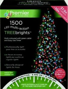 Premier 1500 LED Multi-Action TreeBrights Christmas Tree Lights with Timer MULTI