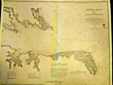 Large Map of The Potomac River entrance to Piney Point 1868 (Virginia, D.C)