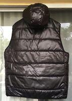 Aeropostale Filled Puffer Vest Hooded Men's Black Size: XXXL/TTTG