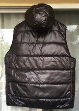 Aeropostale Vest Polyester Filled Puffer Hooded Men's Black Size: XXXL/TTTG