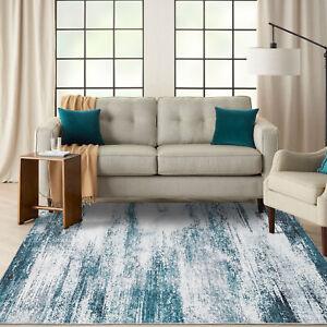 Floor Rug Runners Green Grey Abstract Print Morden Bedroom Carpet Area Rug Mat