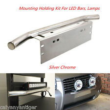 23'' Bull Bar Front Bumper License Plate Mount Bracket Holder For Working Lights