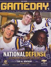 GAMEDAY Oct. 14 2006, LSU 2007 National Champions (Signed by Tyson Jackson #93)