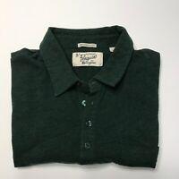 Penguin Original Munsingwear Men's L Short Sleeve Forest Green Pocket Slim Fit