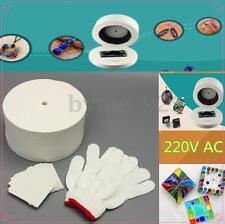 12Pcs Large Microwave Kiln Kit 1 Pair White Cotton Gloves 10x Backing Paper