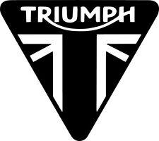 2 x Triumph III Vinyl Decal Sticker Motorbike Tank Car Van R1 R6 Fazer