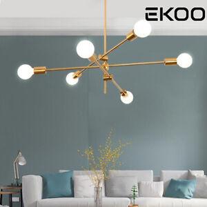 6 Lights Chandeliers Modern Nordic Brass Sputnik Pendant Lamp Ceiling Lights
