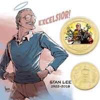 WR US Stan Lee Gold Commemorative Coins Quality Metal Coin For Fans Collection