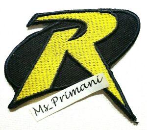 ROBIN R Embroidered Patch UNIFORM LOGO-BATMAN Iron/Sew On Jacket Dress badge