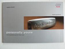 Prospectus AUDI quattro GmbH: exclusive-individualisation, 5.2006, 44 pages