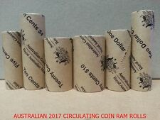 2017 Australian Circulating Coin Design RAM Rolls Set of 6 Limited to 5000 Sets