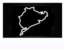 Nürburgring Nordschleife Autoaufkleber Sticker Aufkleber 8x 8,2cm WEISS MATT