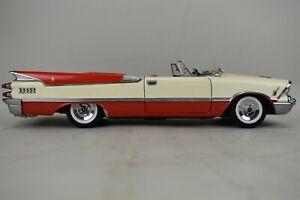 1959 Dodge Custom Royal Lancer Ed 1/18 Platinum Diecast Sunstar Red Cream AS IS