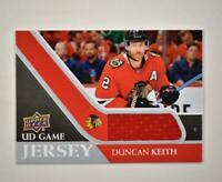 2020-21 UD Series 1 Game Jersey Relic #GJ-DK Duncan Keith  - Chicago Blackhawks