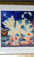 Mackenzie Thorpe LOVE CAT 2003 limited edition A/P  silkscreen / serigraph *COA*