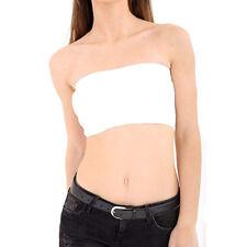 Women Basic Stretch Strapless Layer Seamless Tube Bra Bandeau Underwear Top Vest