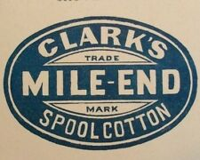 Vintage CLARKS MILE-END advertisment trade card VICTORIAN SCENES-QUANTITY/CHOICE