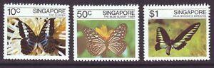 Singapore 1982 SC 387-389 MNH Set Butterfly
