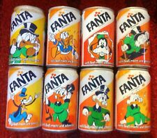 8 Fanta Cans Vintage, DISNEY, Extremely RARE, Germany 80's, 0.330L