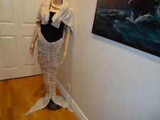 Mermaid Tail Knitted Hand Crocheted Soft Warm Sleeping Dress Wrap Blanket S/M