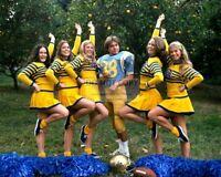 DAVID CASSIDY IN A FOOTBALL UNIFORM WITH UCLA CHEERLEADERS - 8X10 PHOTO (SP180)