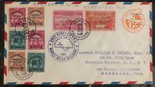 1937 Manila Filippine First Flight Posta Aerea Cover Ffc a Hong Kong Cina Paa