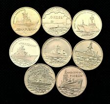 Lot Of Eight Commemorative Coins Of Poland - Historic Polish Navy Ships (Mint)