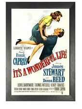 Its A Wonderful Life Classic Vintage Film Retro Bild alte Film Werbung Poster