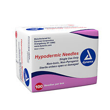 DYNAREX HYPODERMIC NEEDLES, STERILE, BLISTER, LUER LOCK, 27G X 1 1/2 100PCS/BOX