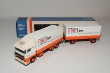 ± LION CAR DAF 3300 TRUCK WITH TRAILER TNT IPEC WHITE ORANGE NM BOXED