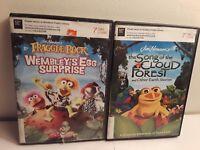 Lot of 2 Jim Henson DVDs: Fraggle Rock Wembleys Egg Surprise, Cloud Forest