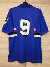 Sampdoria 1991-1992 Home Football Soccer Vintage Shirt #9 ( Gianluca Vialli )