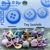 Dress It Up Buttons/Embellishments - Tiny Seashells, approx 10mm, pk approx 28