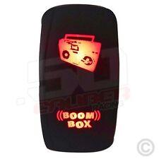 Red On/Off Rocker Switch Boom Box Light 50 Caliber Maverick Polaris Honda Suzuki