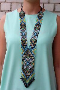 "Handmade Necklace ""Ukrainian"", Gerdan, Ethnic Jewelry, Boho style"