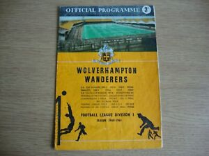 1960/1 Wolves v Blackpool - League Division 1 - Autographed by Jimmy Armfield