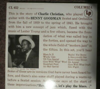 Charlie Christian With Benny Goodman Sextet LP Jazz Vinyl Stereo issue EXC/NM-