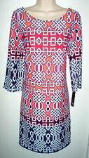 WOMENS DRESS LARGE AB STUDIO MULTI COLOR STRETCH NEWw/TAGS