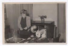 PHOTO ANCIENNE Couple Salon Machine à coudre 1951 Turissa Couturière Fil Femme